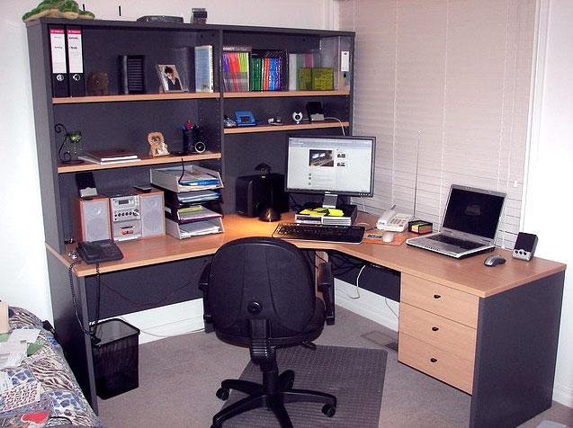 משרד ביתי. צילום: Philip Brookes